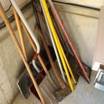 Lot 4 Garage: Shovels, Axe and More