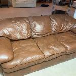 """Leather sofa 85"""" x 40"""""""