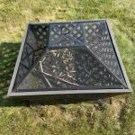 """Outdoor Firepit - 3 images     34"""" square     All metal with removable lid/prote"""