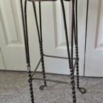 Vintage Wrought Iron Soda Shop Bar Stool