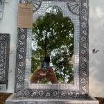 Mirror and two key holders