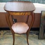 """""""Early 1900's Tiger wood end table""""."""