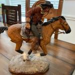 Daniel Monfort Original western sculpture Calvary man on horseback