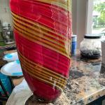 Beautiful blown glass vase