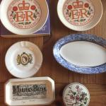 Assorted Wedgwood plates Ashtray Trinket Box