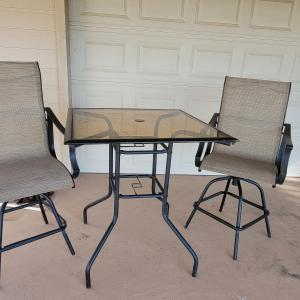 Photo of Patio Table with 2 Chairs
