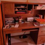 Computer Desk with Top Hutch