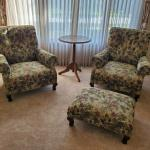 Transitional Sofa and Chairs w/Ottoman