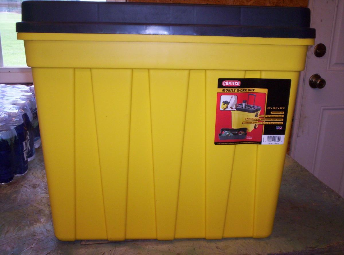 Photo 2 of Contico Mobile Work/Tool Box NEW