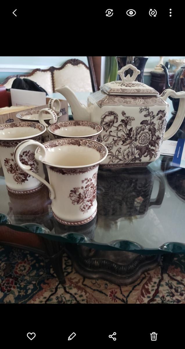 Photo 1 of BURTON & BURTON TEA SET