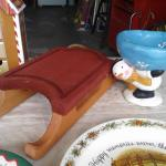 Christmas sled and/or Snowman Candy Dish