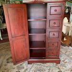 """Farmhouse vintage pantry Cabinet 47"""" Hx26"""" L x15"""" D !"""