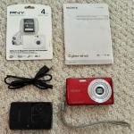 Sony Cyber-shot DSC-W620 14.1 MP - Red