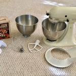 Vintage KitchenAid Hobart Model K45SS 10 Speed Mixer with Accessories.