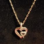 Sterling silver  necklace and heart pendant