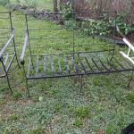 Wrought iron type double chair lawn furniture