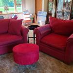 Microfiber Sofa, Double Chair and Ottoman Set