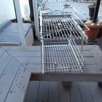 Slide out cabinet storage shelves chrome