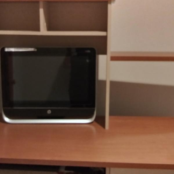 Photo of Computer desk with hutch