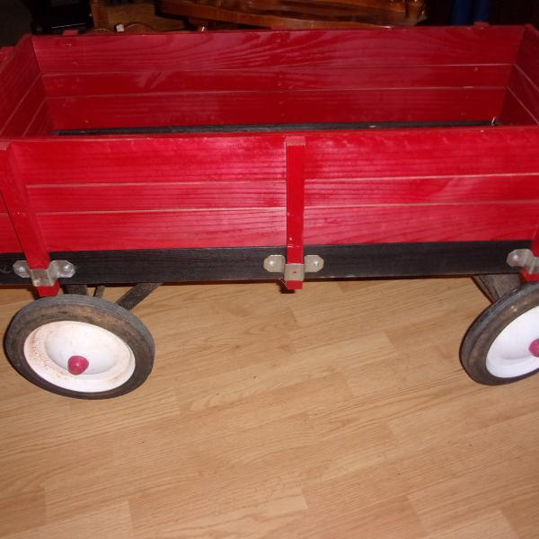 Photo of Red Wood Child's wagon