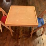 Kids study table with 2 chairs