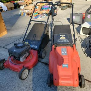 Photo of Gas Lawnmower (the one on the left)