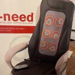 Brookstone Shiatsu Chair Massager w/heat
