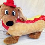 GIANT PLUSH DACHSHUND HOT DOG COLLECTIBLE