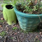 Lot 43: Ceramic Planters, Mushroom & More