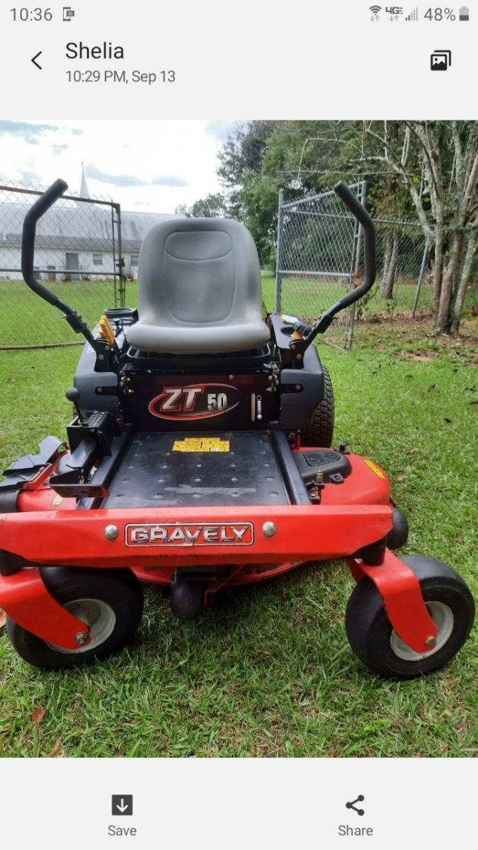 """Photo 1 of Graverly 50"""" zero turn lawnmower"""