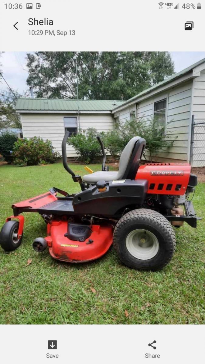 """Photo 2 of Graverly 50"""" zero turn lawnmower"""