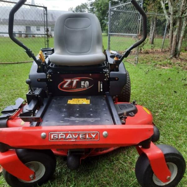 """Photo of Graverly 50"""" zero turn lawnmower"""