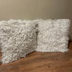 Set of 2 Shag Pillows