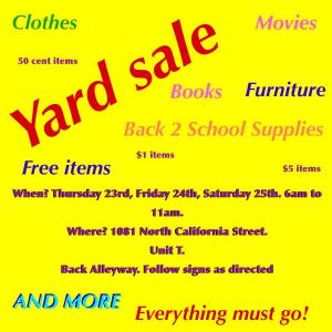 Photo of YARD SALE! EVERYTHING MUST GO!!