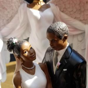 Photo of Wedding Cake Toppers or Table Decor