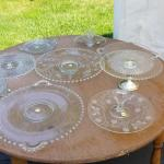 Vintage Glass Cake Stands and Platters