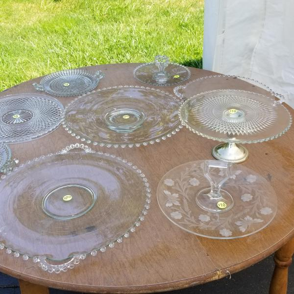 Photo of Vintage Glass Cake Stands and Platters