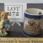 Boyd's Bears Mug 1998 and Bear Figurine, Unmarked