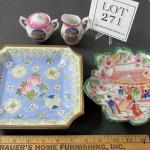 Vintage Oriental Lot, Dragonware Mini Sugar Creamer, Giesha Girl Dish, China Dis