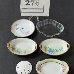 Lot of Vintage Butter Pats, Nut Dishes, and a Sand Dollar, 1 Rosenthal Germany,