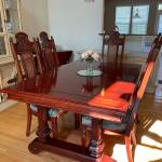 Vintage Wood Dining Set w/ China Cabinet/Breakfront