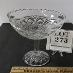 Large Antique Pressed Glass Compote