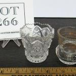 2 Vintage Toothpick Holders, Imperial Glass, and Antique Glass With Gold Trim