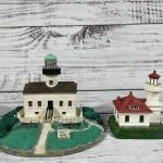 PNW Lighthouse and Old Point Loma Lighthouse Sculpture Figurine Set