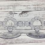 Imperial Glass Candlewick Candelabra Glass Set of Two Candleholders