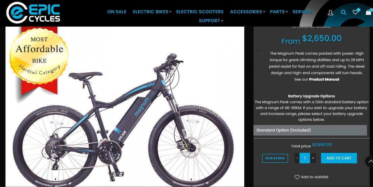 """Photo 4 of  """"Used but like NEW """"    Electric Bike  Magnum Peak 48V"""