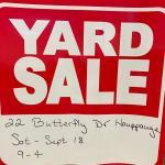 Yard / Garage Sale