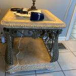 Concrete and glass coffee table w/2 end tables