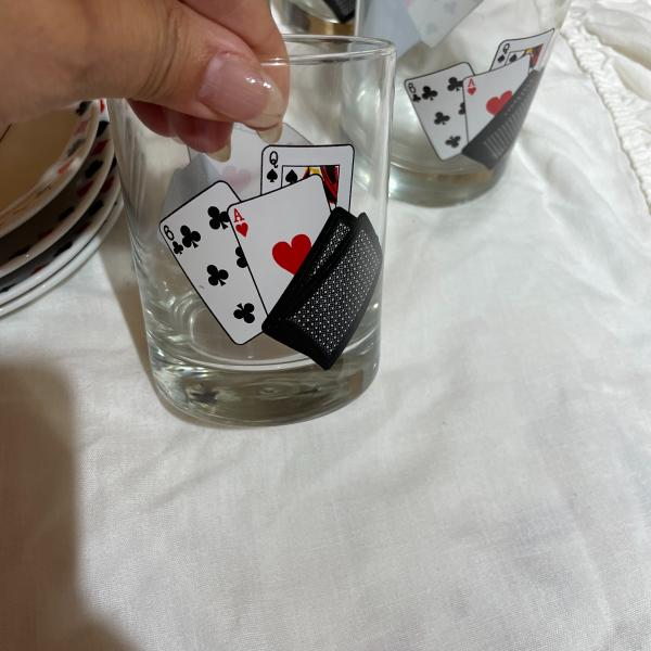Photo of Card plates and glasses