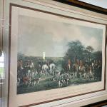 Sir Richard Sutton and the Quorn Hounds Etching